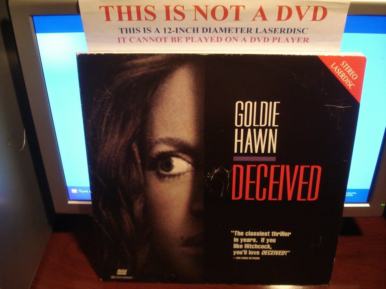 Laserdisc DECEIVED 1991 Goldie Hawn John Herd Lot#1 FS LD Movie [1306AS]