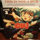 LD Anime ICZER 3 VOLUME 3 1991 Japanese w/English Sub U.S. Manga SEALED Laserdisc  [ID2892CT]
