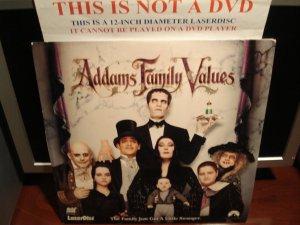 Laserdisc ADDAMS FAMILY VALUES 1993 Anjelica Houston Lot#3 FS Horror Comedy LD Movie [LV 32806]
