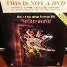 Laserdisc NETHERWORLD 1991 Michael Bendetti Sci-Fi Full Moon Entertainment LD Movie [LV 12940]