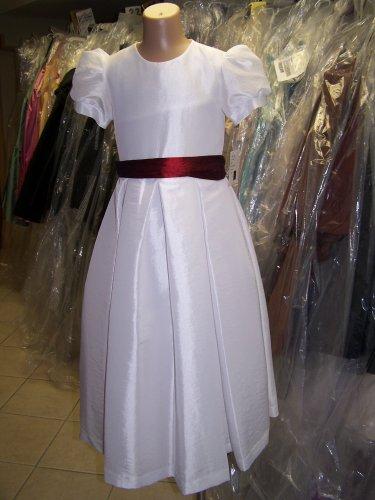 Dessy 4011.....Flower Girl / Special Occasion Dress.....White....Sz 10