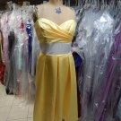 After Six 6553.....Knee-Length, Strapless, Satin Dress.....Sunflower.....Sz 8 L