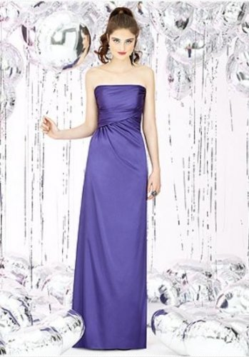 Dessy Social Bridesmaids 8122...Full Length, Strapless Dress...Regalia....Sz 10