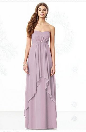 After Six 6691......Formal, Strapless, Chiffon Dress.....Suede Rose...Sz 10