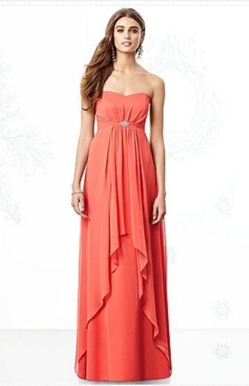 After Six 6691......Formal, Strapless, Chiffon Dress......Firecracker.....Sz 16