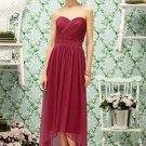 Lela Rose LR 190...Tea length, Strapless, Chiffon Dress......Claret.....Sz 6
