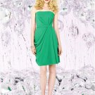 Dessy Social Bridesmaids 8124..Knee-Length, Strapless...Pantone Emerald...Sz 14
