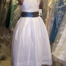Details about  Dessy 4015.....Flower Girl / Special Occasion Dress....White....Sz 4
