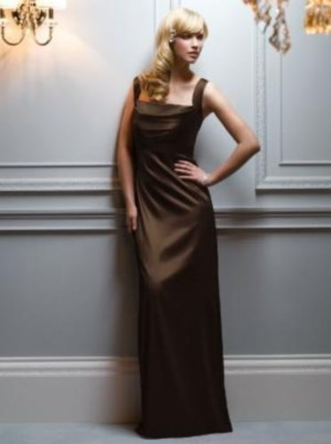 Details about  After Six 6544..Bridesmaid Formal Sleeveless Dress..Espresso...Sz 8 UK
