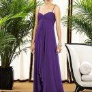 Dessy 2883....Full length, Chiffon, Spaghetti Strap Dress,....Majestic....Sz 0