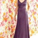 After Six 6257...Full length, Satin Dress.....Eggplant....Sz 8