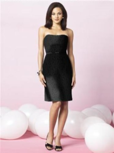 Details about  After Six 6632....Strapless, Cocktail length Dress....Black...Sz 8