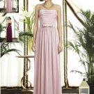 Dessy 2898.....Full length, Strapless, Chiffon Dress......Blush.....Sz 12