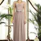 Dessy 2898......Full length, Strapless, Chiffon Dress.....Topaz.....Size 10