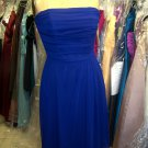 Lela Rose 143....Strapless, Cocktail length, Chiffon dress....Royal......Size 16