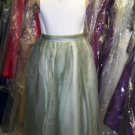 Dessy 4004.....Flower Girl / Special Occasion Dress....Ivory / Moss....Sz 5