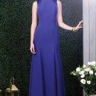 Dessy 2923....Full length, Sleeveless, Satin dress.....Electric Blue....Size 8