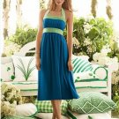 After Six..6554...Knee-Length, Halter Blue Dress.....Ocean Blue.....Sz 2