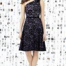 Dessy 8141...Cocktail length, One shoulder Lace Dress....Smashing....Size 10