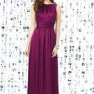 Dessy 8145.....Full length, Sleeveless, Satin Dress......Merlot......Size 6