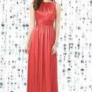 Dessy 8145.....Full length, Sleeveless, Satin Dress......Firecracker.....Size 8