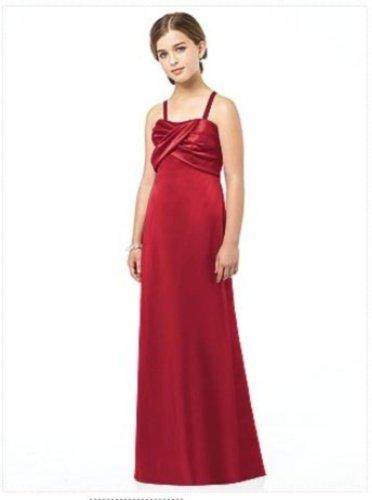 After Six Junior Bridesmaid style JR 513...Satin red Dress..Valentine....Sz 6 JB