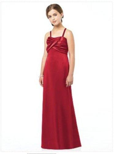 After Six Junior Bridesmaid style JR 513...Satin red Dress..Valentine....Sz 8 JB