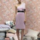 Lela Rose LR 170....Cocktail length, one shoulder, Satin dress....Suede Rose....Sz 8
