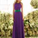 After Six 6548.....Full length, Chiffon dress.....African Violet...Size 12 L