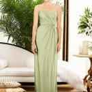 Dessy 2882......Strapless, Full length, Chiffon Green Dress....Mint.....Sz 10 L