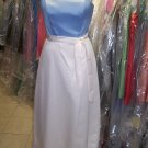 Alfred Sung 400...Full length, Strapless, Satin Dress...Ivory / Cloudy....Size10