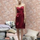 Lela Rose LR 168....Strapless Cocktail Satin Dress...Candy apple Size 6