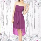 Dessy Social Bridesmaids 8120...Cocktail Length, Strapless....Orchid...Sz 14