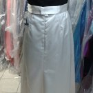 Dessy 2790...NEW, Full length, Strapless Dress......Ivory / Black.....Size 10