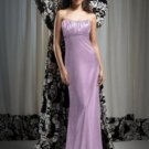Dessy 2742*....Full length, Strapless, Satin Dress.....Wood Violet...Size 6