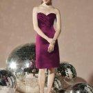 Dessy 8112...Strapless Cocktail Satin Dress....Ruby....Sz 10
