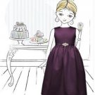 Flower Girl Dress 4001.....Aubergine....Sz 5