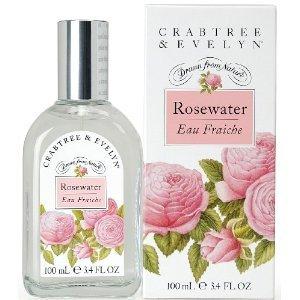 Crabtree & Evelyn Rosewater 3.4 Oz Eau Fraiche   NIB