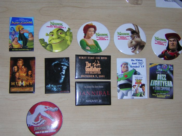 Movie Buttons Variety Pack