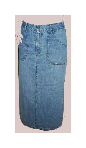 Great PARIS BLUES Long Denim Skirt size 7 BEAUTIFUL