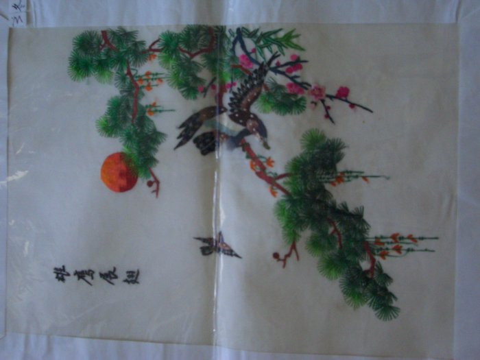 Beautiful Chinese Hand Silk Embroidery Eagles
