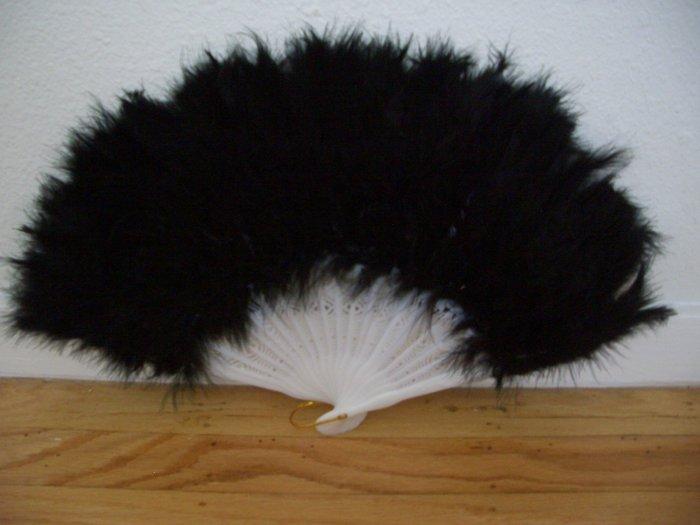 BLACK Feather Fan ~ Also called as Dancing Fan ~