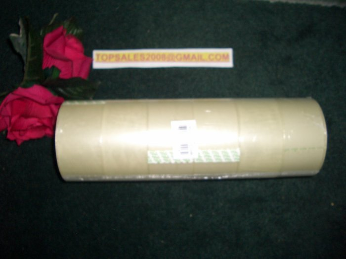"6 ROLLS CLEAR PACKING TAPE 2"" x 55 YARDS."