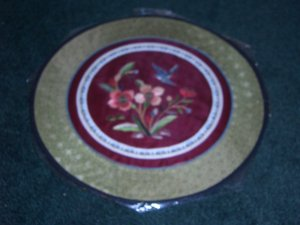 Round Tapestry with Bird & Flowers   *** FREE SHIPPING ***