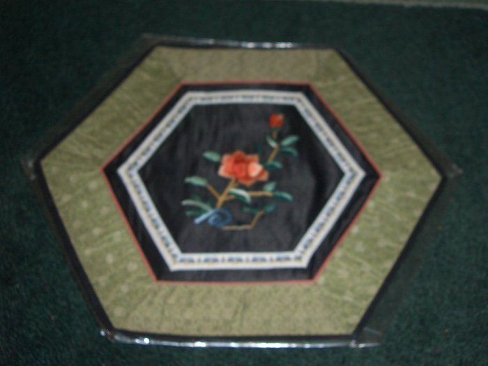 HEXAGON Tapestry with FLOWERS   *** FREE SHIPPING ***