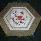 HEXAGON Tapestry with Butterfly & Flowers   *** FREE SHIPPING ***