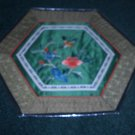 HEXAGON Tapestry with BIRD & FLOWERS   *** FREE SHIPPING ***