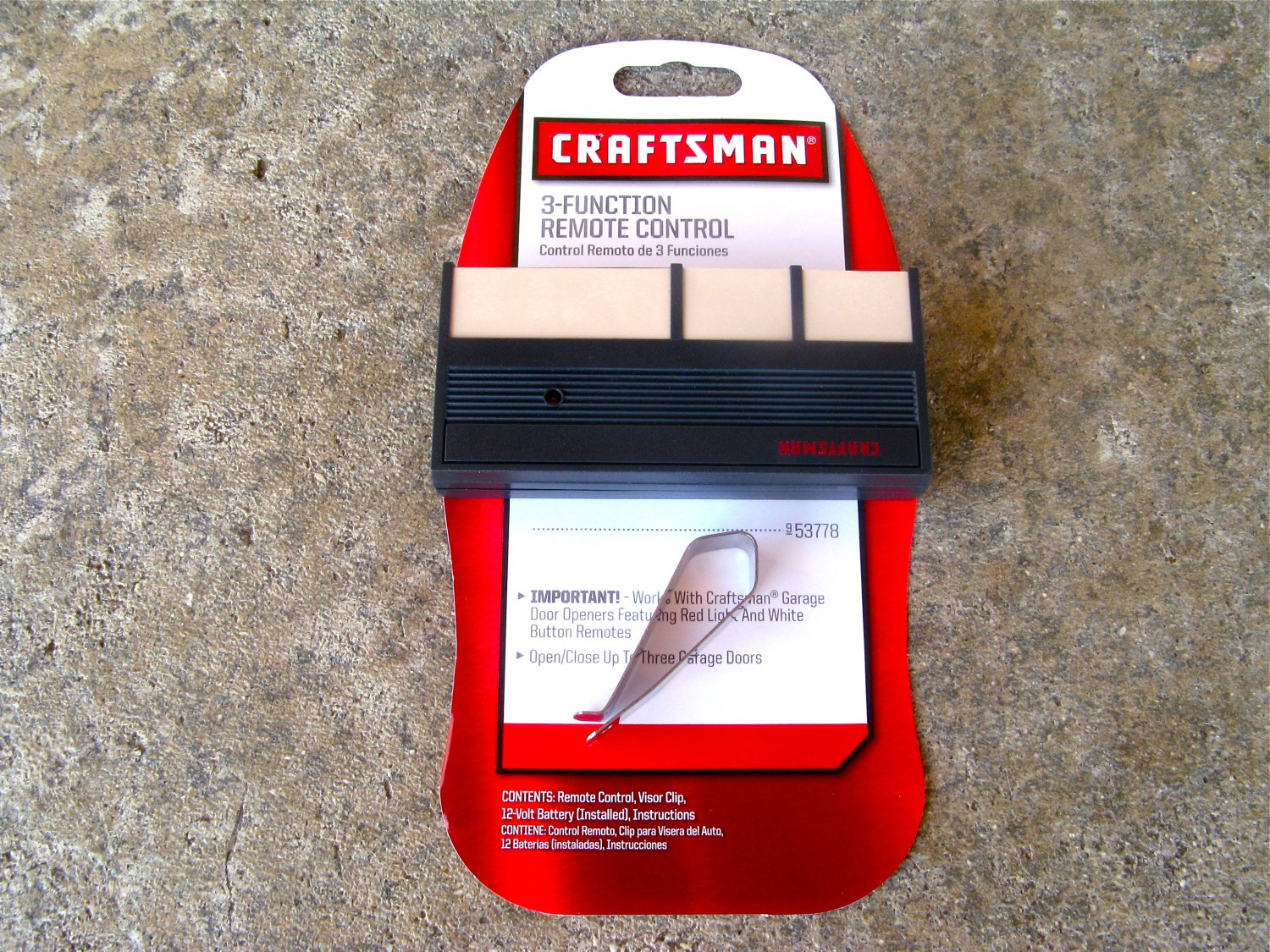 Craftsman Sears Remote 139 53778 Garage Door Opener