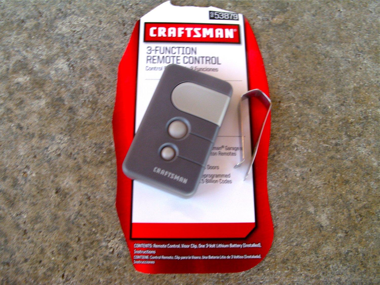 Craftsman sears remote garage door opener control 53879 81lm 83lm 850cb 853cb liftmaster - Garage door opener remote control ...