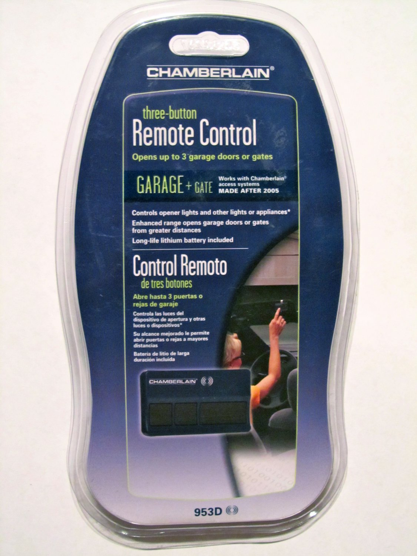 New Chamberlain 953d Remote Garage Door Opener Control